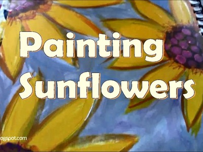 How to paint sunflowers with acrylics, for beginners. #CACflowerArt