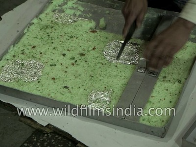 Learn how to cut Indian sweets into equal parts