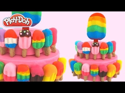 Play-Doh How to Make a Popsicle Cake * Play Dough Art * Creative Fun for Kids * RainbowLearning