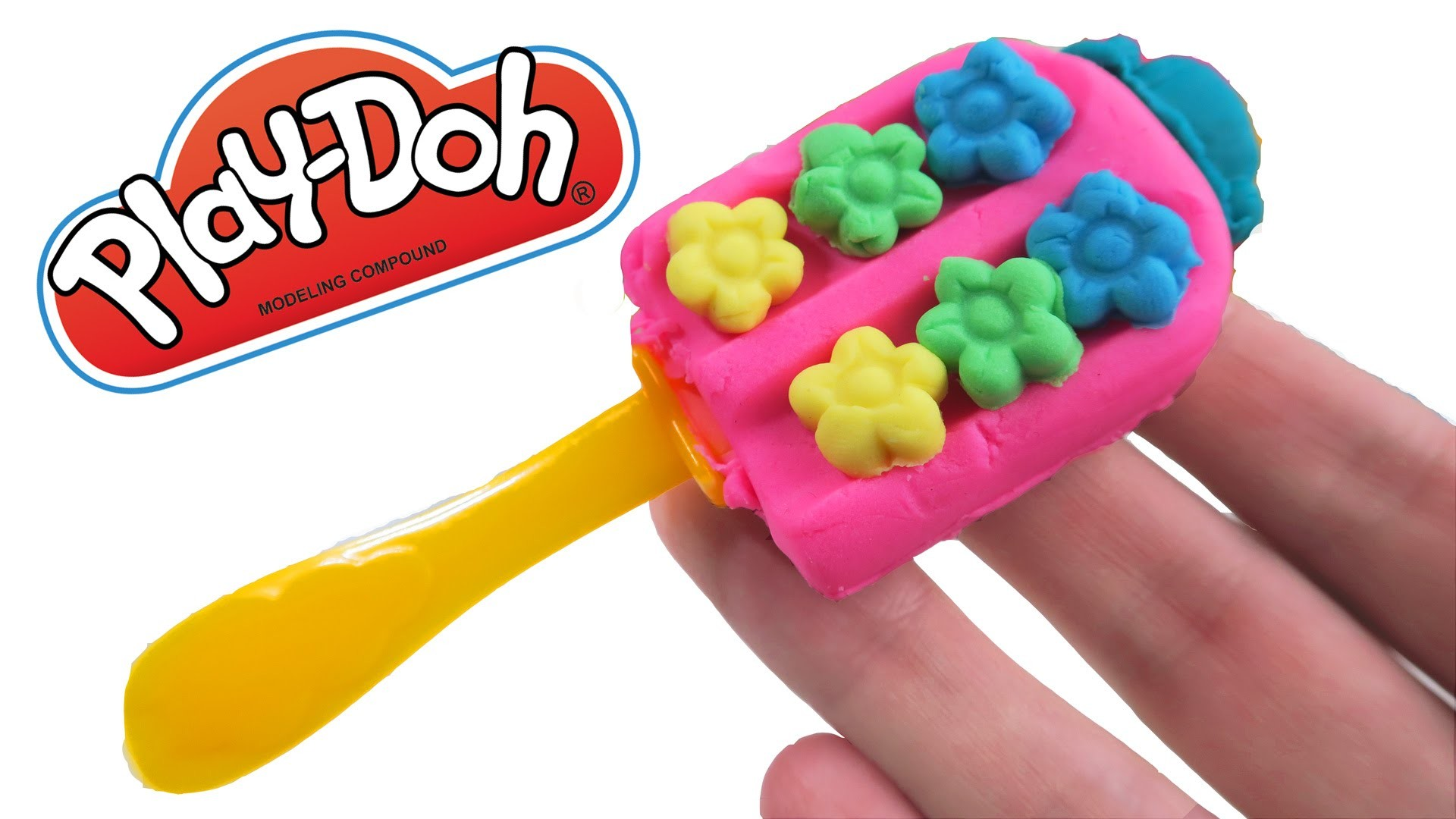 Play-Doh How to Make a Rainbow Flower Popsicle * DIY Creative for Kids