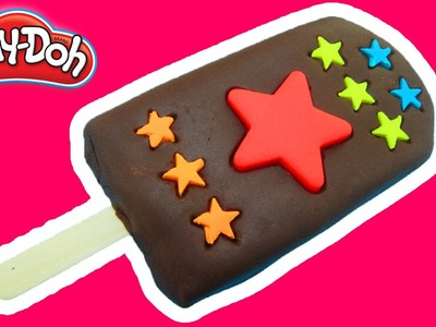 Play Doh How to make Mini Chocolate Star Ice Cream Popsicle Peppa Pig español toys