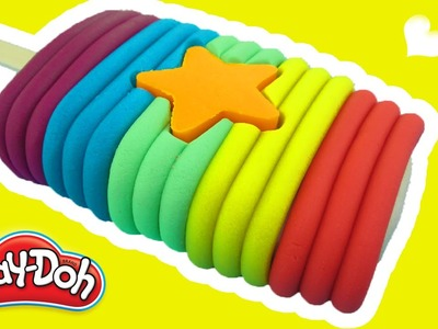 Play Doh Rainbow Star Popsicle ► How to make Play-Doh Rainbow Star Ice Cream Peppa Pig Kids