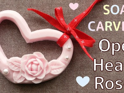 SOAP CARVING| Easy| Open Heart and an Easy Rose | How to make