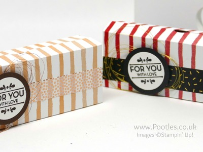 6x6 Cute Box using Stampin' Up! Fruit Stand Paper