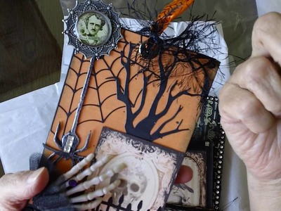 Altered Paper Bags with a Halloween Theme- Swap at MAS