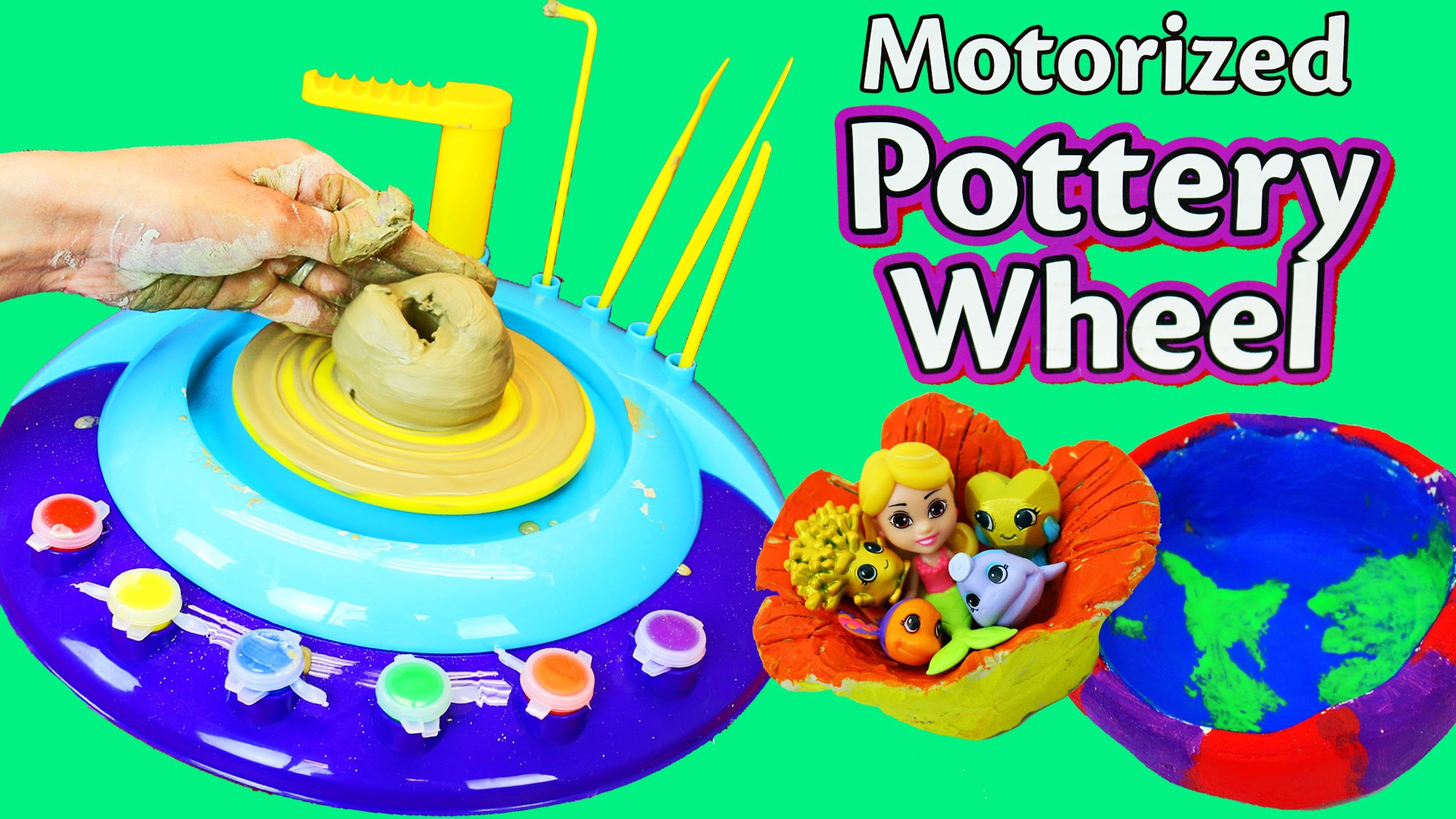 Cra-Z-Art DIY Pottery Wheel Make Your Own Toy Storage Splashlings Kids Art by DisneyCarToys