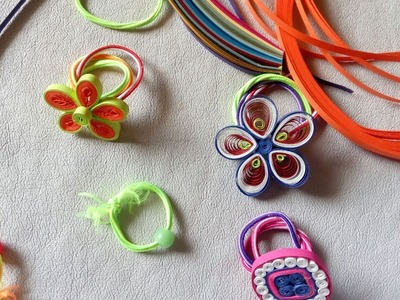 Decorating'' HAIR BANDS'' with paper strips