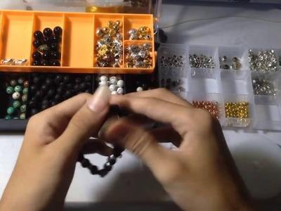 DIY bracelet stone with beautiful beads
