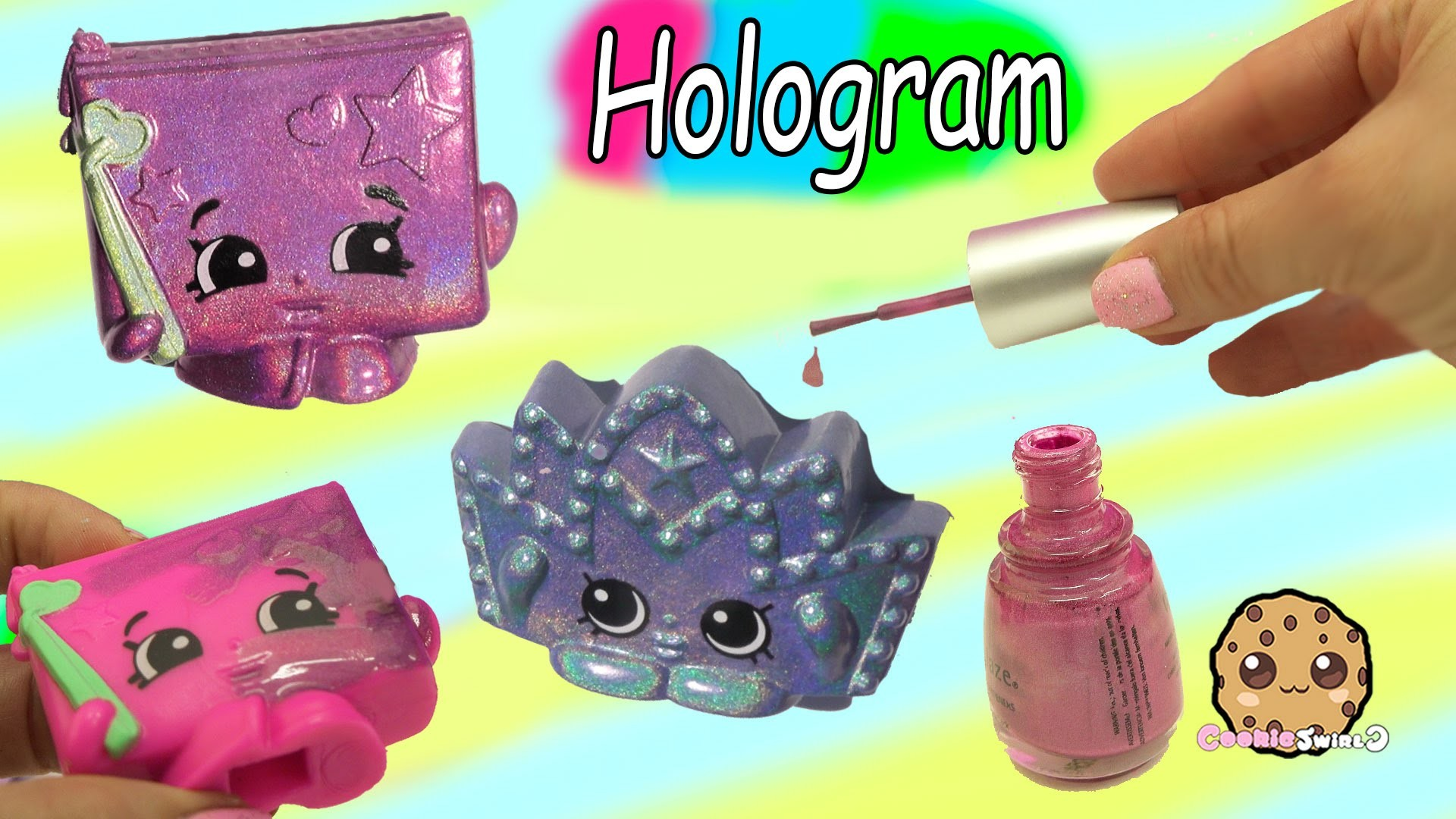 DIY Hologram Nail Polish Shopkins Mcdonalds Happy Meal Toy Do It Yourself Craft Video