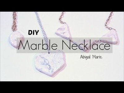 DIY Jewelry | Marble Necklace