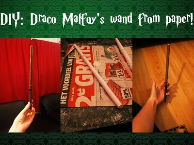 DIY ll A paper wand: Draco Malfoy