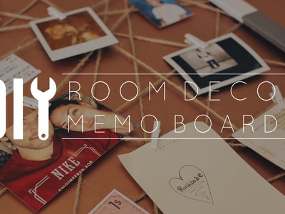 DIY Room Decor Memo Board. Subscriber Request