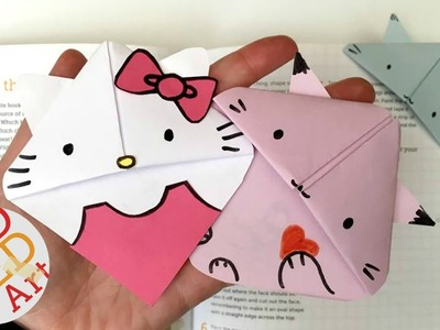 Easy Cat Bookmark (Hello Kitty, Kawaii Kitten, Kitten, Paper Crafts) #ReadAlong