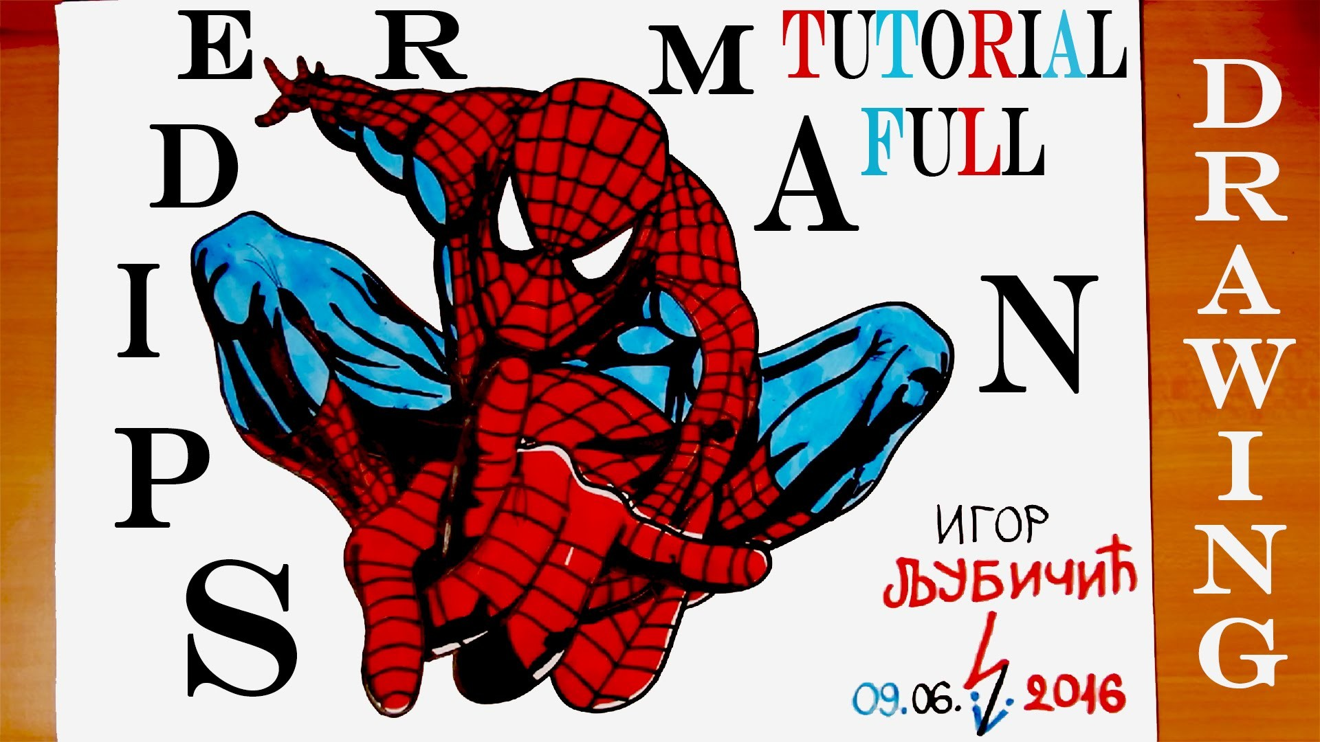 How To Draw Spiderman Step By Step Easy On Paper Full Body For Kids