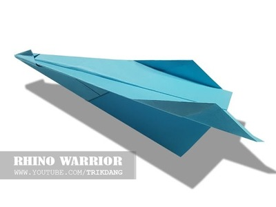 How to make a paper airplane: EASY paper plane that Flies | Rhino Warrior