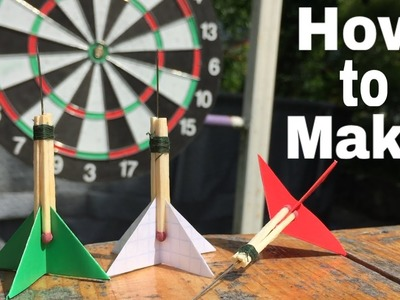 How to Make the Simplest Darts using Paper and Matches - Tutorial
