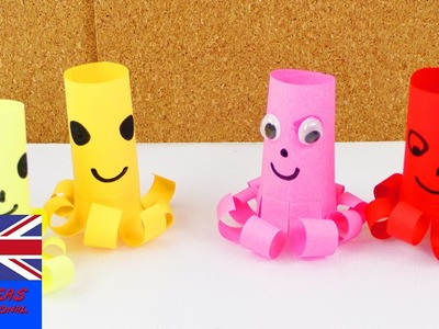 How to make this cool paper octopus! simple and self made | cute octopus