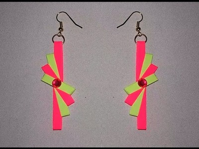 Latest model quilling earrings - Quilling paper earrings New designs making