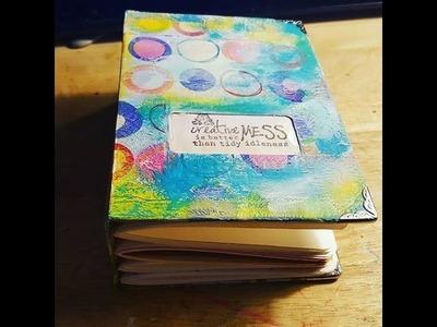 Making an Art Journal Using A Pasta Box & Scrap Paper
