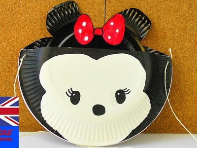 MINNIE MOUSE BAG! Made with paper plates! Storage idea for the house and the street