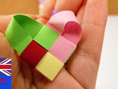 Mothers Day Last Minute Idea | Lovely Heart made from paper slips | pretty & super easy | Gift Idea