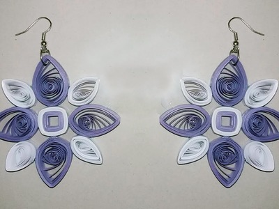 New designs Quilling Paper Earrings Making - Quilling Earrings Tutorial