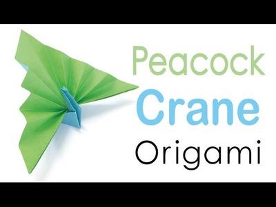 Origami Paper Peacock Crane Tutorial - Origami Kawaii〔#106〕