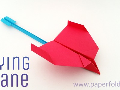 "Origami tutorial to make a ""Paper Flying Plane"" - Flies awesome!!"