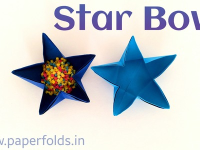 "Origami Tutorial to make a Paper ""Star Bowl"" from A4 Paper"