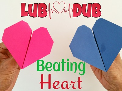 "Origami Tutorial to make a Paper ""Beating Heart"