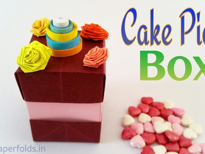 "Origami Tutorial to make a Paper ""Cake Piece gift box"""