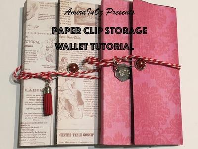 Paper Clip Storage Wallet (w Paper Clip Closure) Tutorial
