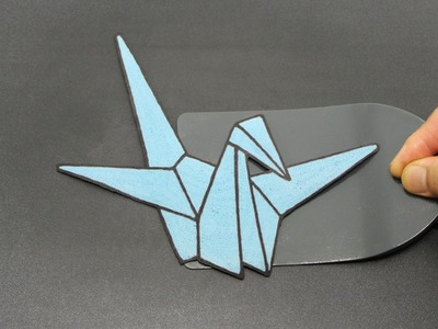 Paper Crane Pancake | Human 2D Printer Looks 3D | Strangely Satisfying Food Origami