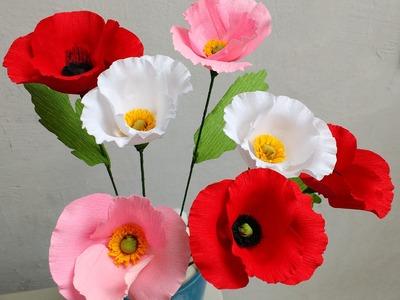 Paper Flower Poppy (Flower # 80)