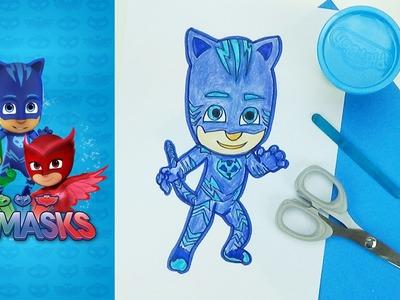 Paper puppet Catboy | Pj Masks | easy crafts for kids