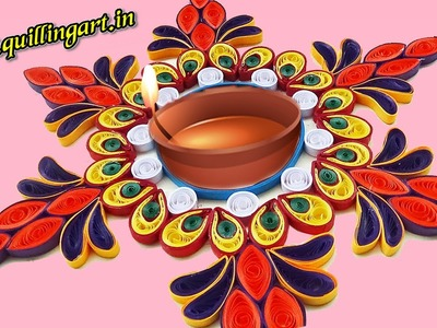Paper Quilling : Creating Rangoli Designs by using Quilling Artwork