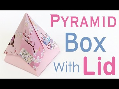 Pyramid Origami Paper Gift Box With Lid - Origami Kawaii〔#109〕