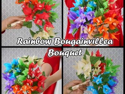 Tissue paper Flowers Bouquet : Rainbow Bougainvillea