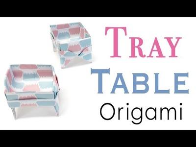 Tray Table Box Origami Paper Instructions- Origami Kawaii〔#116〕