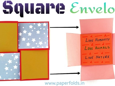 "Tutorial to make a Paper "" Interlocking Square Envelope 