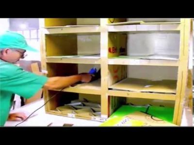 Zapatero made with cardboard furniture and comfortable furniture cardboard DIY