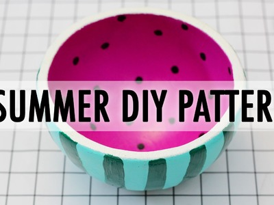 3 Easy Summer DIY Patterns. Thrift Store Art Challenge with Sea Lemon