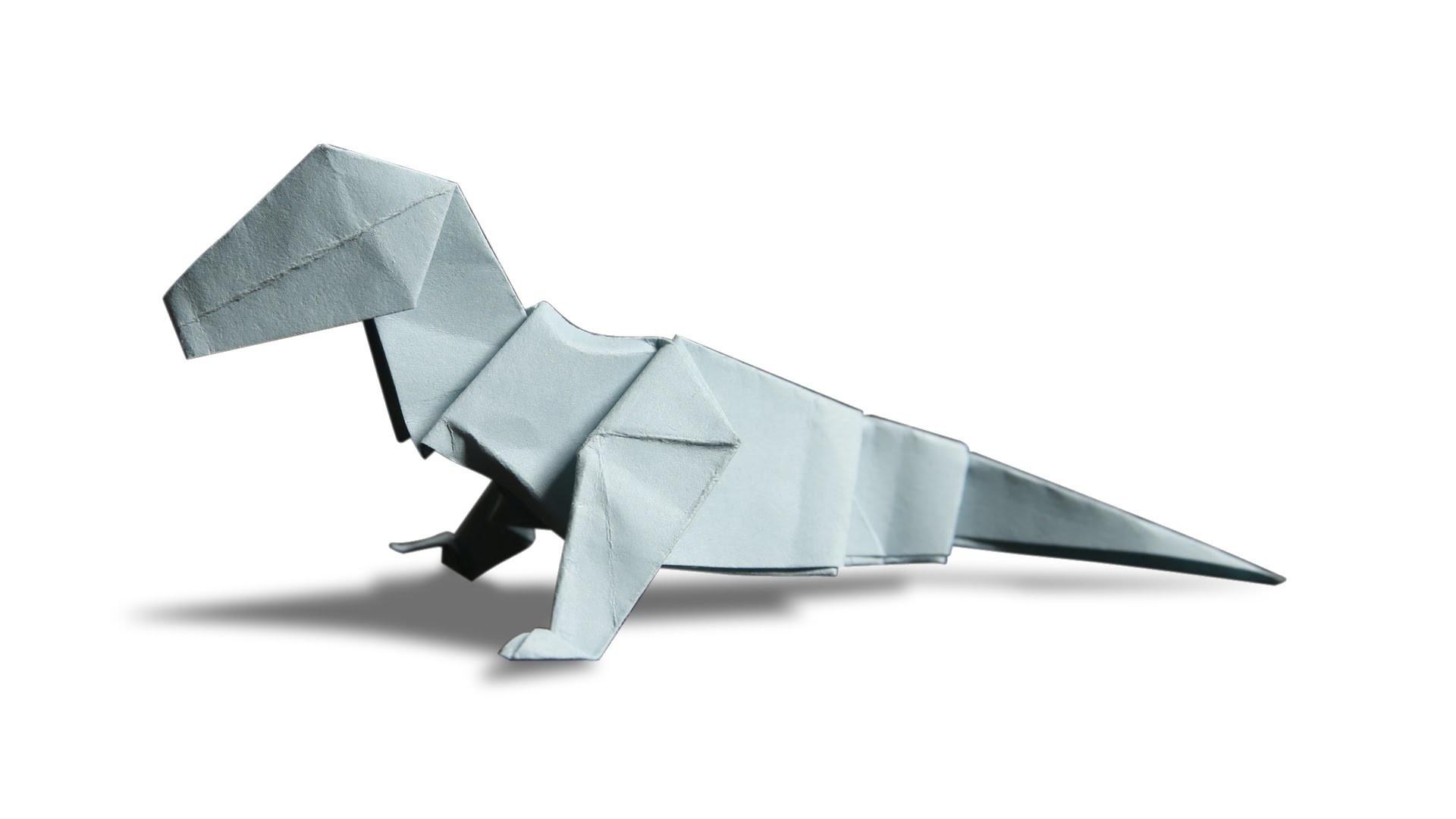 3D Origami Dinosaur DIY Learn How To Make Easy