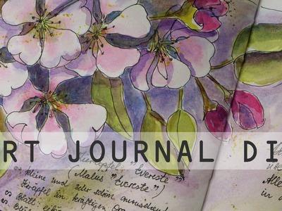 Art Journal DIY Mein Gartenjahr April