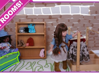 AWESOME NEW ROOMS!!! Bedroom for American Girl Type Dolls | Blueprint DIY Kids
