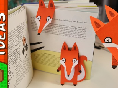 DIY Bookmark - Fox | Craft Ideas for Kids on Box Yourself