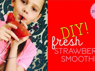 DIY fresh STRAWBERRY SMOOTHIE | Pink Pie Factory | Lara-Marie | How to make a healthy cocktail