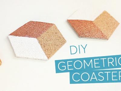 DIY geometric hexagon cork coasters - IKEA hack | CharliMarieTV