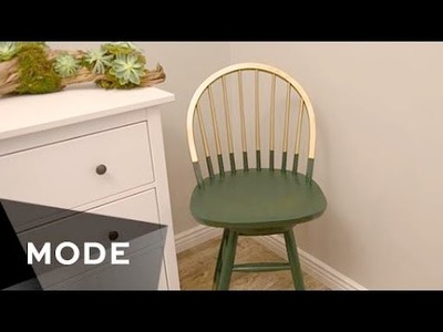 DIY Gold-Dipped Chair | Right at Home ★ Mode.com