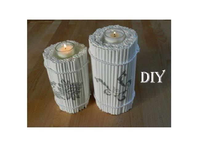 DIY: Kerzenständer aus Zeitungspapier. candle holder made out of newspaper